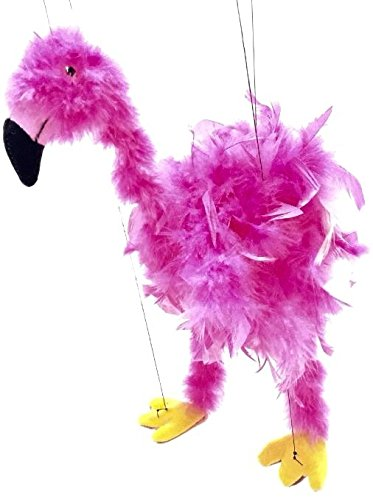 Beautiful-16-Feather-Flamingo-Marionette-Puppets