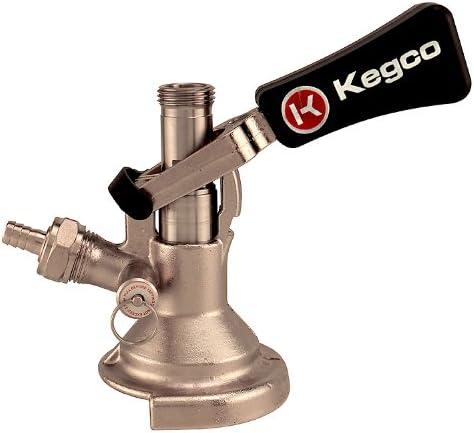 Kegco KC KT1104W-Keg Coupler German Slider A System Ergonomic Lever Handle Stainless Steel Probe
