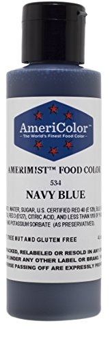 AMERIMIST NAVY BLUE AIRBRUSH COLOR 4.5 OZ Cake Decorating (Colour Goes Navy Blue)