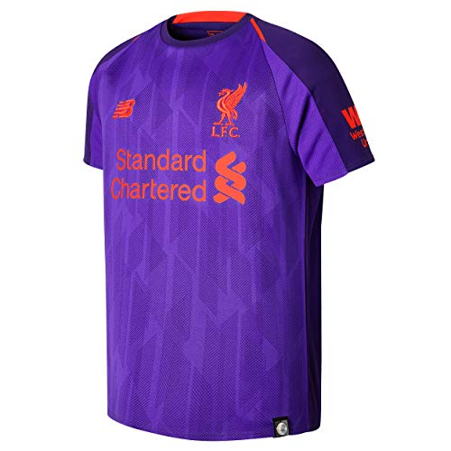 4 Away Soccer Jersey - Liverpool Kid's 2018/2019 Away Soccer Jersey (X-Large) Deep Violet