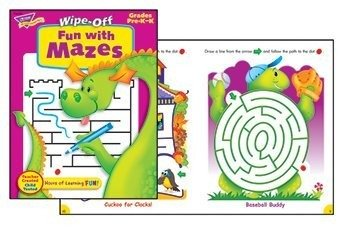 Trend Enterprises Fun with Mazes Wipe-Off Book (Trend Educational Products)