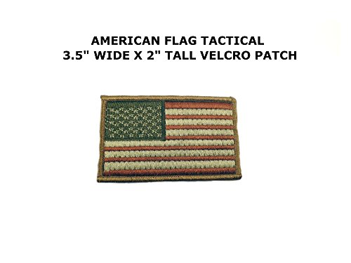 American Flag Coyote Embroidered Velcro Tactical Comics Cart