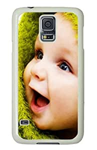Samsung Galaxy S5 Case and Cover - Little Cute Baby PC Hard Case Cover for Samsung Galaxy S5 White
