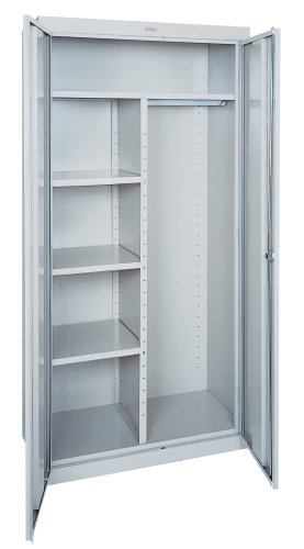 Sandusky EACR362478-05 36-Inch Wide by 24-Inch Deep by 78-Inch High Welded Industrial Storage Combination Wardrobe/Three-Shelf Cabinet, Light (Edsal Combination Cabinets)