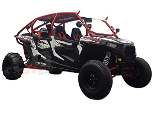 Polaris RZR XP1000 4 seat Radius Cage, Roll Cage with rear Bumper w/led light tabs and whip tab