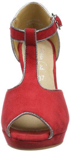 Andrea Conti 0617413 - Sandalias para mujer, color negro, talla 35 Rojo (Rot (rot 021))