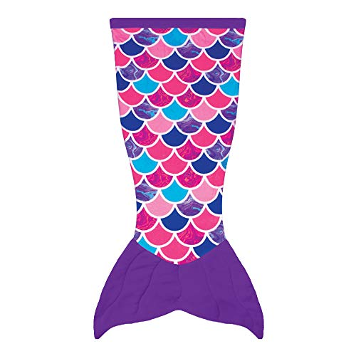 Fin Fun Mermaid Tail Blanket for Kids Cuddle Tails (Kids, Sea Orchid)