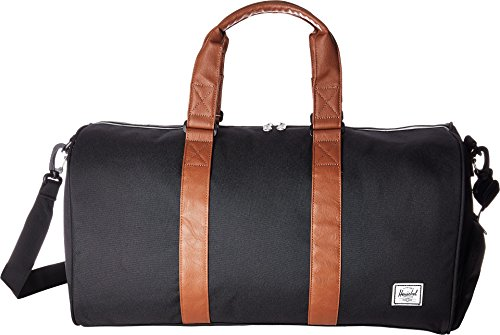 Herschel Supply Co. Novel Mid-Volume, Black|Tan Synthetic Leather