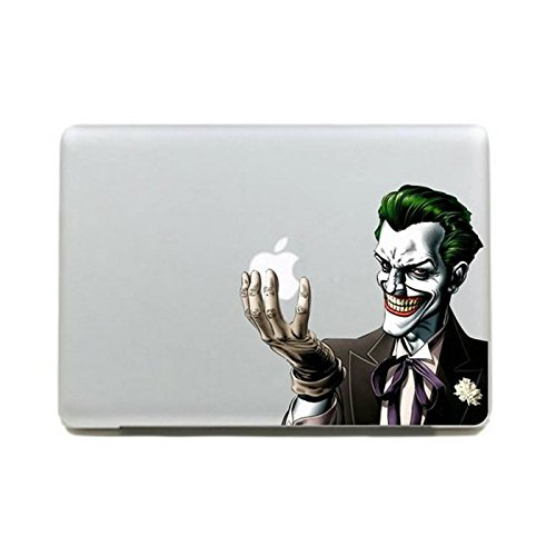 Echohc Color Joker Holding Apple Logo - DIY Personality Vinyl Decal Sticker for Apple Macbook Pro / Air 13 Inch Laptop Case Cover Cartoon Skin Sticker (for 13