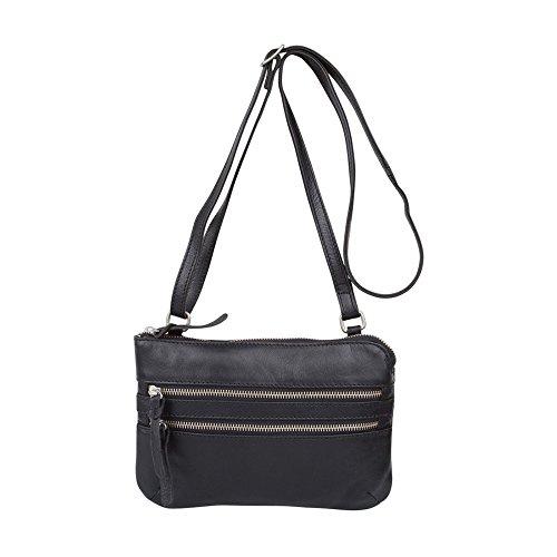 Black Tiverton Piel Cowboysbag Bag Cm Bolso Bandolera 24 gTT0ARBU