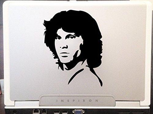 Portrait Morrison Jim (LA DECAL Jim Morrison portrait American rock band Doors singer musician car truck SUV laptop lunch box macbook window decal sticker approx 6 inches black)