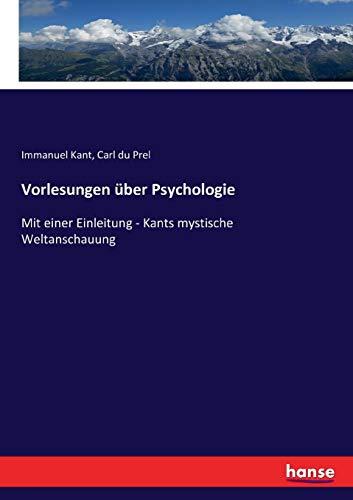 Vorlesungen über Psychologie (German Edition)