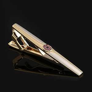 CCJIAC Clip de Corbata de Oro Regalo de Boda para Hombre Broche de ...
