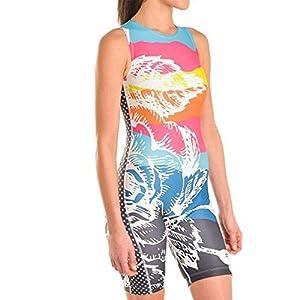 Triflare Mountain Rose Women's Mountain Rose One Piece Triathlon Suit | Sleeveless | Tri Suit Women | Triathlon Suits…