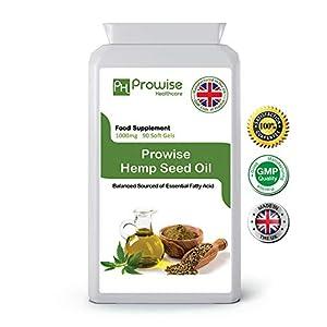 Hemp Seed Oil 1000mg 90 Soft Gels Capsules I Rich ...