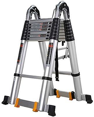 Escaleras telescópicas ZX, Escalera Extensión Telescópica Aluminio, Escalera Portátil Extensible Multiusos Plegable Soporte 200kg (Size : 2.8m+2.8m=Straight Ladder 5.6m): Amazon.es: Hogar