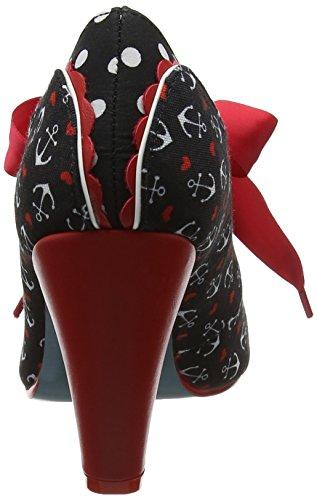 Licenza Poetica Con Pompe Backlocks Damen Scelta Irregolare Nero (nero (nero / Rosso))