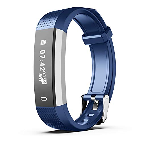 - wewa98698 Multifunctional Smart Bracelet Pedometer Call Reminder Fitness Tracker Wristband - Blue