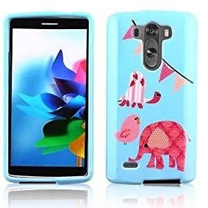 CIRCUS ELEPHANT DESIGN HARD PLASTIC MATTE SNAP+ON CASE PHONE COVER FOR LG G3 [In Casesity Retail Packaging]