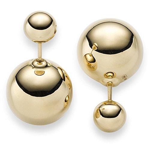 Boucles d'oreilles avec boule 7,5mm & 16mm Boucles d'oreilles en or jaune 585