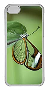 iPhone 5C Case, Personalized Custom Transparent Butterfly Wings for iPhone 5C PC Clear Case