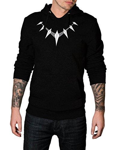 Decrum Black Panther Hoodie Men – Superhero Hooded Sweatshirt Pullover Hoodie | Necklace Logo, M