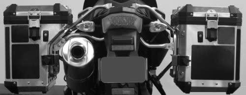 Moto Equip Black Reflective Sticker Kit made from 3M Scotchlite Vinyl tape for BMW F800GS Alum Adventure Saddlebag ME-RK-32B ME RK-32B