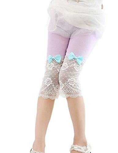 Ding Dong Toddler Kids Girl Summer Lace Bowknot Capri Leggings