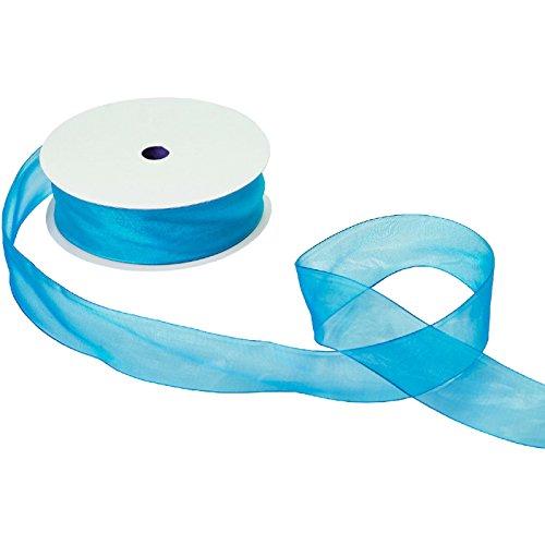 Jillson & Roberts Organdy Sheer Ribbon, 1 1/2'' Wide x 100 Yards, Turquoise by Jillson Roberts