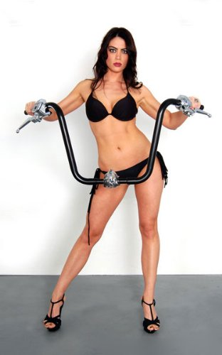 """14"""" Black Ape Hangers 1-1/4"""" diameter Handlebars for Harley-Davidson"""