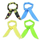 Pack of 4, The Elixir Ice Chill Cooling Neck Scarf Cooling Neck Bandana Cool Gel Bandana