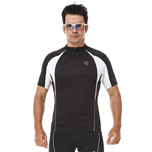 4ucycling Lambda Men's Black Breathable Long/Short Sleeve Cycling Jersey
