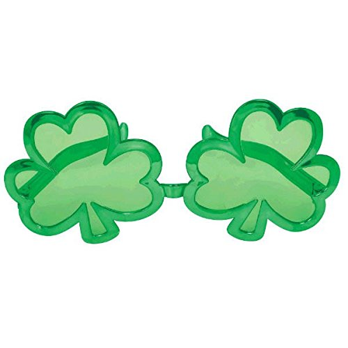 St. Patrick's Day Giant Shamrock Plastic Eye Glasses Costume Party Accessory (1 Piece), Green, 5