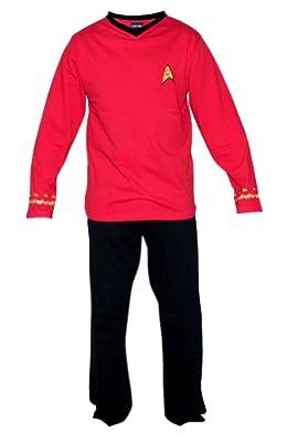 Star Trek Adult Scotty Officer Uniform Pajama Set (Medium)