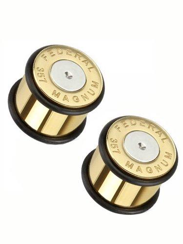 (5/8g) Federal 357 Magnum Centerfire Cartridge Ear Plug-2pc