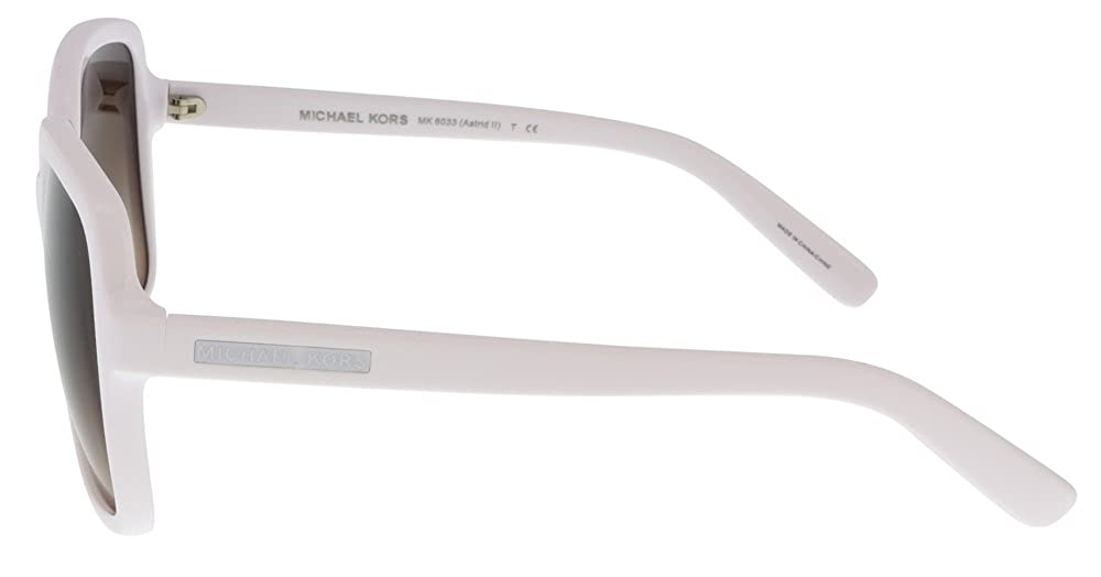 f3622c0787c51 Amazon.com  Michael Kors MK6033 ASTRID II 306413 White Square Sunglasses   Clothing