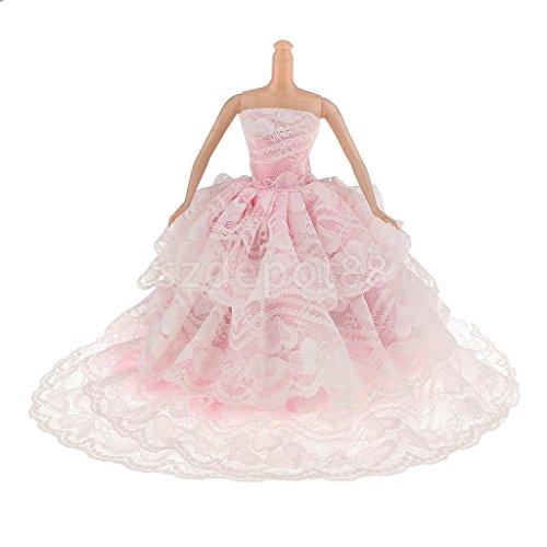 Pink Strapless Bride Wedding Party Gown Dress by uptogethertek