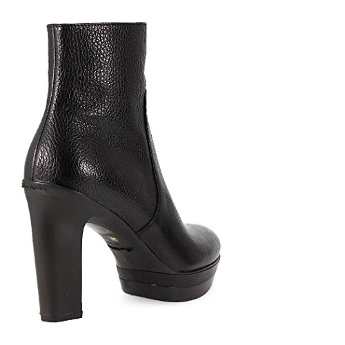 Santoni Damen Knöchelstiefel mit Absatz Schwarz Leder Schuhe Kollektion 2017