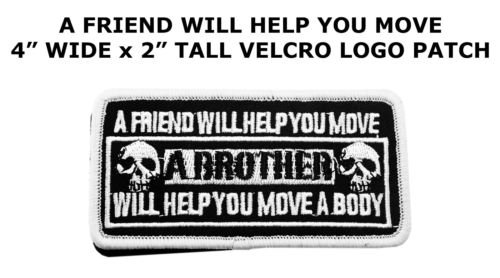 A Friend Will Help You Funny Saying Vest Patch Motorcycle Biker Patch Club Patch by I.E.Y.online-store ()