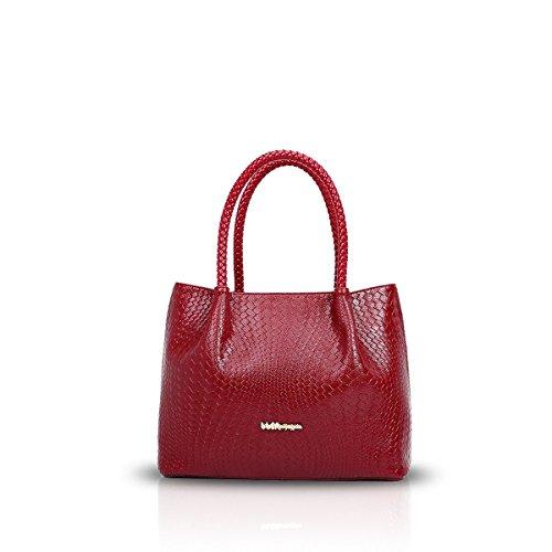 Nicole&doris New Women/ladies Handbags Shoulder Tote Bag Fashion Woven Embossed Red Nd-gv001