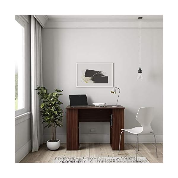 Solimo Amazon Brand Wood Walnut Finish Laptop Desk - Brown