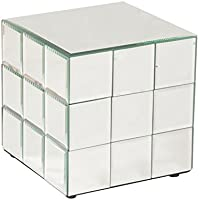 Howard Elliott 11045 Mirrored Puzzle Cube Pedestal, Short