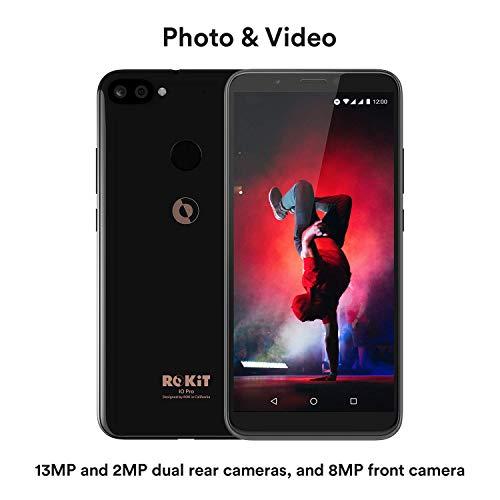 "ROKiT iO Pro 3D Android Phone - 5.99"" GSM Unlocked Smartphone - 4G LTE Dual Sim Cell Phone w/ 64GB Memory & 13MP Camera + 2MP Camera (Black)"
