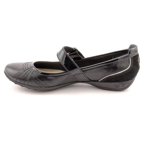 Giani Bernini Womens Caprice Leather Mary Jane Flat Shoes, Black, Size 6M US