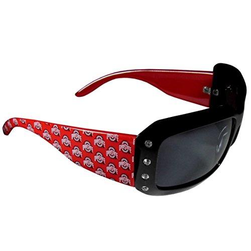 NCAA Ohio State Buckeyes Women's Rhinestone Designer - State Sunglasses Ohio