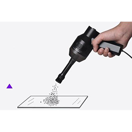 MNII Aspirateur de voiture portatif, aspirateur humide et sec avec aspiration puissante et multi-fonctions Cordon d'alimentation de 1 m, avec connexion USB, noir
