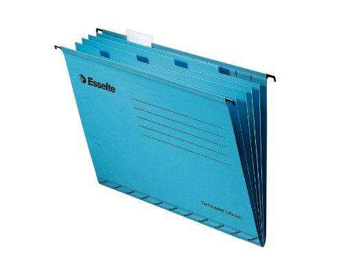 Esselte Pendaflex Hängemappen A4 V-förmig 4-fach-Registertrennbuch mit Reitern 10 Stück blau A4 with Divider Book blau