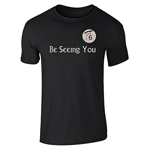 Be Seeing You Number 6 Cult Halloween Costume 60s Black M Short Sleeve T-Shirt ()