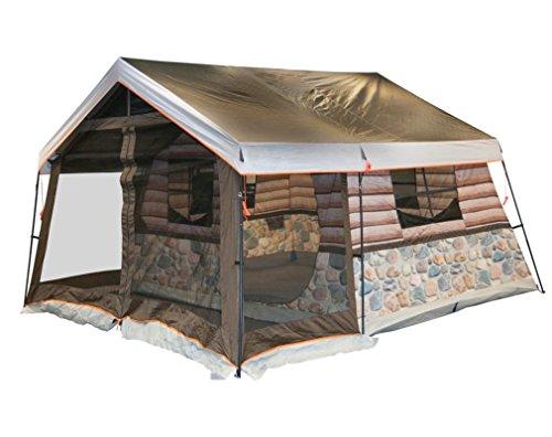 石炭公式仮定[ノーブランド品] クレセントドーム 日除け 防水 コンパクト テント 5人用 ブラウン