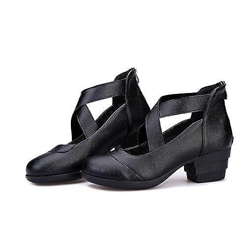 cef413b4a681a 70%OFF Akar Lady Non-slip Closed Toe Cross Strap Pumps Salsa Prom ...